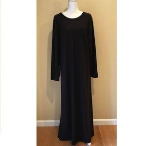 Eileen Fisher 100% Wool Long-Sleeve Maxi Dress